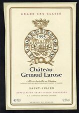 SAINT JULIEN 2E GCC VIEILLE ETIQUETTE CHATEAU GRUAUD LAROSE 1993 RARE §06/09§