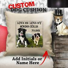 Personalised BORDER COLLIE Dog Puppy Cushion Cover Love Gift Her Birthday
