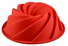Swirl Cake Mould Spiral Shape Silicone Mousse Baking Tools Moulds Dessert Red