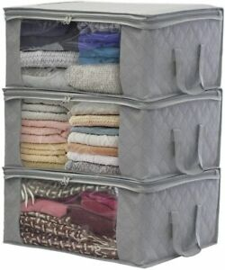 Foldable Storage Bag Organizers, Large Clear Window & Carry Handles