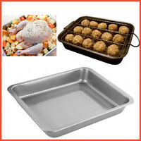 Baking Tray Non Stick Coated Kitchen Oven Roasting Dish Bakeware Pan Grill Rack