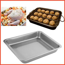 Roasting Tray Baking Oven Dish Bakeware Kitchen Pastry Pan Grill Rack Reusable