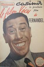 Cinema Magazine Kodak Film Experience of 1950 Fernandel Casimir