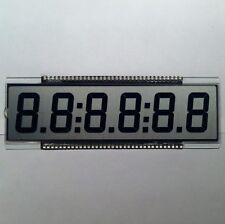 6-DIGITS 7-SEGMENT LCD DISPLAY GLASS