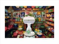 Limited Edition Print of Vintage Fiestaware Collection