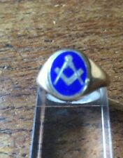 More details for masonic  hallmarked 9ct gold    ring.size r