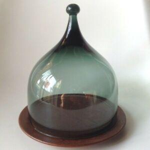Vintage Osteklokke design Benny Motzfeldt Glass Cheese Dome Norway Rare!