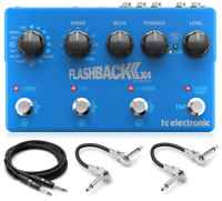 New TC Electronics Flashback 2 X4 Delay Guitar Effects Pedal w/ Hosa Cables