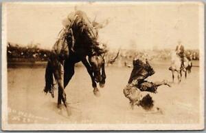 1919 PENDLETON ROUND-UP Rodeo Oregon RPPC Photo Postcard BONNIE McCARROL Cowgirl
