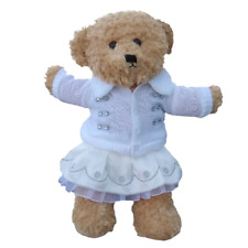 "SILVER WHITE WINTER OUTFIT- TEDDY BEAR CLOTHES FITS 16"" /40cm BUILD A TEDDY BEAR"