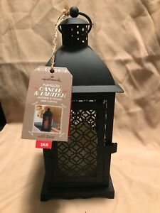 Hallmark Flameless Candle & Lantern-Black-Metal- Decorative-NWT