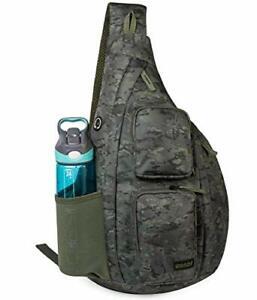WANDF Sling Bag One Strap Backpack Travel Crossbody Large, L-camouflage