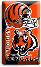 CINCINNATI BENGALS FOOTBALL TEAM PHONE JACK TELEPHONE WALL PLATE COVER MAN CAVE