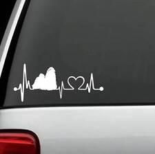 K1043 Shih Tzu Heartbeat Lifeline Dog Decal Sticker Car Truck Suv Van Surface