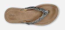 Olukai Kahiko Slate/Tan Flip Flop Comfort Sandal Women's sizes 5-11/NEW