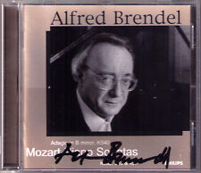 Alfred BRENDEL Signed MOZART Piano Sonata K.332 333 457 Adagio K.540 CD PHILIPS