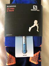 Salomon Cool Max Running  Socks Size L 7.5- 10 (2 Pack)