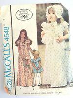 Vintage McCalls 1970s Laura Ashley Child's Dress Bonnet Bag 4548 UNCUT Size 8