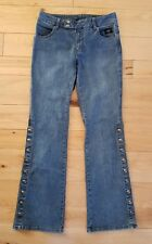 HARLEY DAVIDSON  96200-06VW SIDE SNAP LOW RISE BOOT CUT STRETCH JEANS SIZE 4