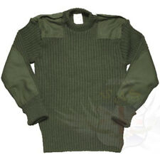 BRITISH ARMY SURPLUS ISSUE OLIVE GREEN COMBAT JUMPER, WOOLLY PULLOVER,CREW NECK