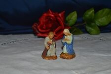 2 Antique Santones Devineau Joseph and Mary / 4,5 cm / 5 CM