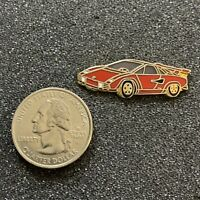 Nice Vintage Red Lamborghini Sports Car Pin Pinback #38784