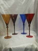 "Vintage Champagne Flutes/Martini  TALL BEAUTIFULL 1 OF A KIND 11 1/2"" TALL 5""W"