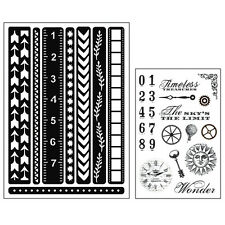 Momenta Art C Mixed Media Adhesive Stencil & Stamp Pack - Border Strips