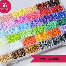 12000 Perler Beads 36 Colors Hama for Designs Plussize Craft Cute Fun Box Set  %