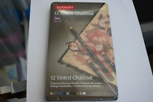 12 Derwent Tinted charcoal pencils new in box