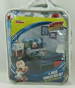 Walt Disney Junior Mickey and the Roadster Racers 4 Piece Toddler Bedding Set