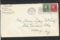 LYNBROOK, NEW YORK ,1933 NASSAU CO 1894/OP. COVER TO ALBANY,N.Y.