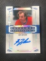 2019-20 UD ARTIFACTS GUY LAFLEUR ESTEEMED ENDORSEMENTS AUTO EE-GL #ed 19/28