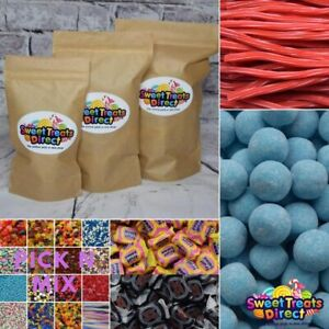 Pick N Mix Sweets 500g 1kg Pouches Large Retro Fizzy Jelly Candy Assortment