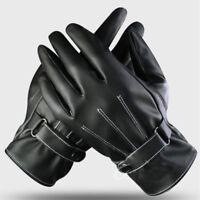 guanti moto touch screen in pelle pieno cuoio