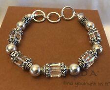Silpada B1147 Sterling Silver Swarovski Crystal Bracelet *MINT IN SILPADA BOX!