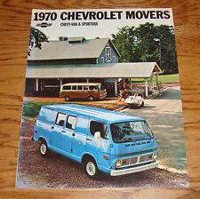 Original 1970 Chevrolet Chevy-Van & Sportvan Sales Brochure 70