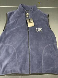 Kentucky Wildcats Columbia Blue Zip Up Fleece Jacket Mens Size Medium Calipari