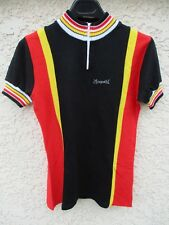 Maillot cycliste JACQUES ANQUETIL noir cycling shirt jersey vintage Belgique 2 S