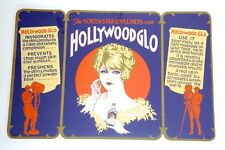 c.1925 DECO HOLLYWOOD GLO - Skin Tonic Cosmetics Advertising STORE DISPLAY Sign
