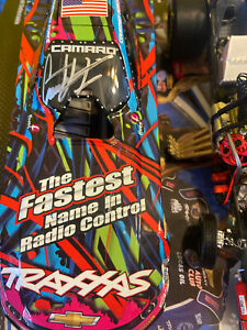 SIGNED Courtney Force 2015 Traxxas Pink Camaro Funny Car 1/24 NHRA  Lionel