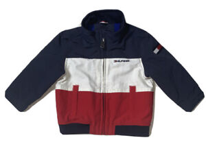 Preowned- Tommy Hilfiger Full Zip Nautical Jacket Boys (Size 18 Months)