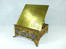 Gran con menos frecuencia Biblia soporte para 1840 bronce dorado emailleplaketten esmaltes