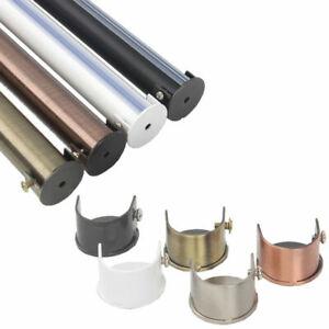 2X Metal 28mm Curtain Pole Recess Wall Bracket Black Chrome Brass Satin Chrome