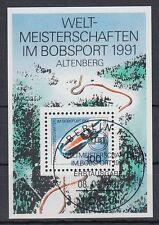 Germany Bund BRD 1991 Θ BERLIN Bl.23 Bob Schlitten Sledge Bobber Winter Sports