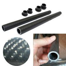 1 Pair Lightweight Durable Real Carbon Fiber Matte Black Handlebar Tube Grip Bar