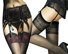 Unique and Beautiful Exclusive Stockings by Fiore Designer Patterned 20 Den new