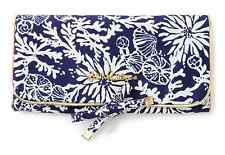 Lilly Pulitzer On a Roll Jewelry Pouch In The Groove Navy $48 New 630306517225