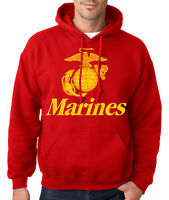 MARINES HOODIE Usmc Us Hooded Sweatshirt Military Semp Marine Corps Semper Fi US
