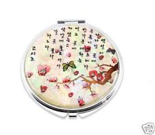 Mother of Pearl Make-up Compact Mirror - Apricot flower